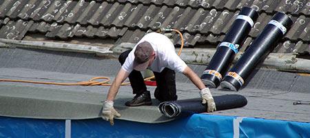 bitumen dakbedekking plaatsen
